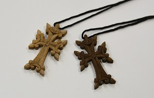 Wooden Handmade Cross with String (Made in Armenia)