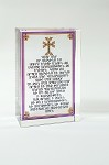 Lord's Prayer Colorful Glass Paperweight