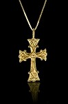 1 1/4 Inch Gold Cross