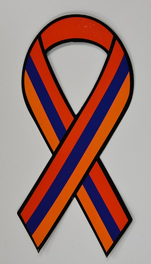 """Support Our Troops"" Magnet - Armenian Flag Colors"