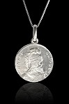 St. Vartan and Battle of Avarayr Silver Pendant